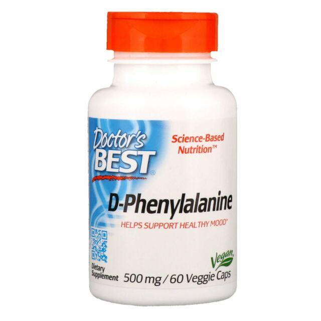 Doctor's Best, D-Phenylalanine, 500 mg, 60 Veggie Caps