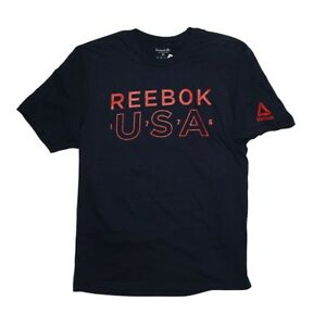 Reebok-Men-039-s-CrossFit-034-USA-034-Logo-T-Shirt-Black-BI0153