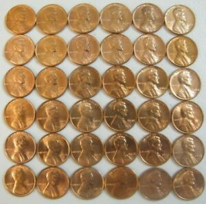 Lincoln-Memorial-Penny-Cents-1959-1974-P-D-S-Set-36-Uncirculated-BU-coins