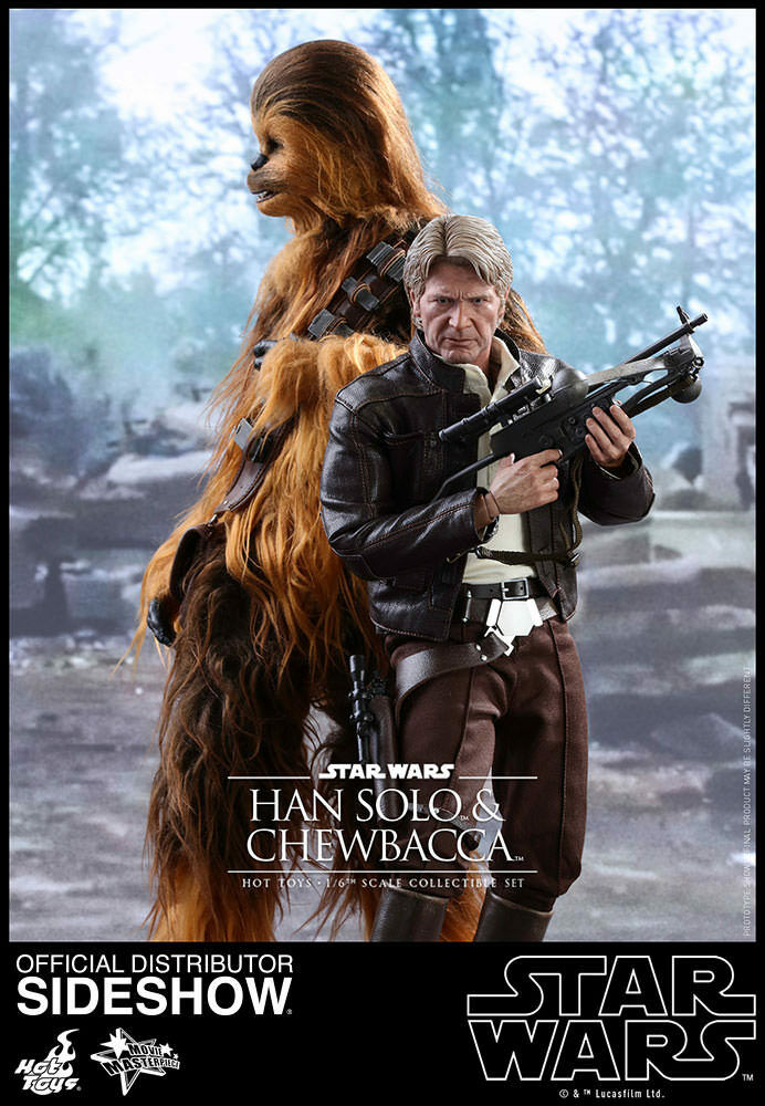 STAR WARS:EP. VII-CHEWBACCA & HAN SOLO DELUXE SET 16 Action Figure 12″ HOT TOYS