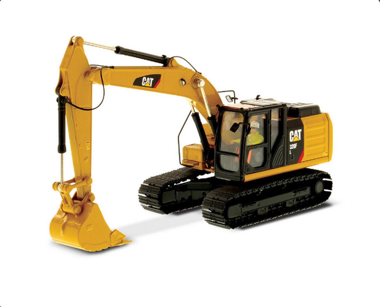 1 50 DM Caterpillar Cat 320F L Hydraulic Excavator Diecast Models