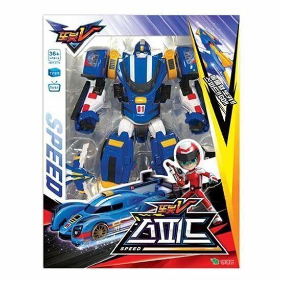 Tobot V Speed bluee Transform Robot Action Figure Sports Car Animation_VA