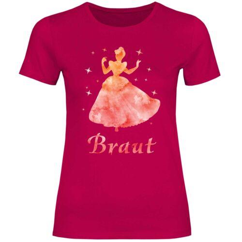 T-shirt Femmes JGA Fille Strip mariage mariée Princessesfilles soir gruppens