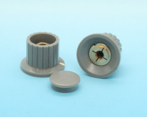 10 X De Plástico Gris Top tornillo de apriete perilla de control 25mmdx16mmh De 4 Mm Eje