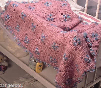 Lovely Chunky Crochet Cot-Pram Blanket- Crochet Pattern - Lovely Pattern