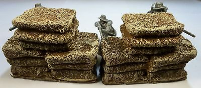 CIVIL WAR 54mm COTTON BALE STACK PAIR MILITARY SCENERY ATHERTON SCENICS (#9911)