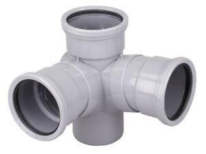 Osma-Soil-Pipe-Double-Corner-Branch-110mm-4S291-4-034-4S291G-GREY-87-5deg