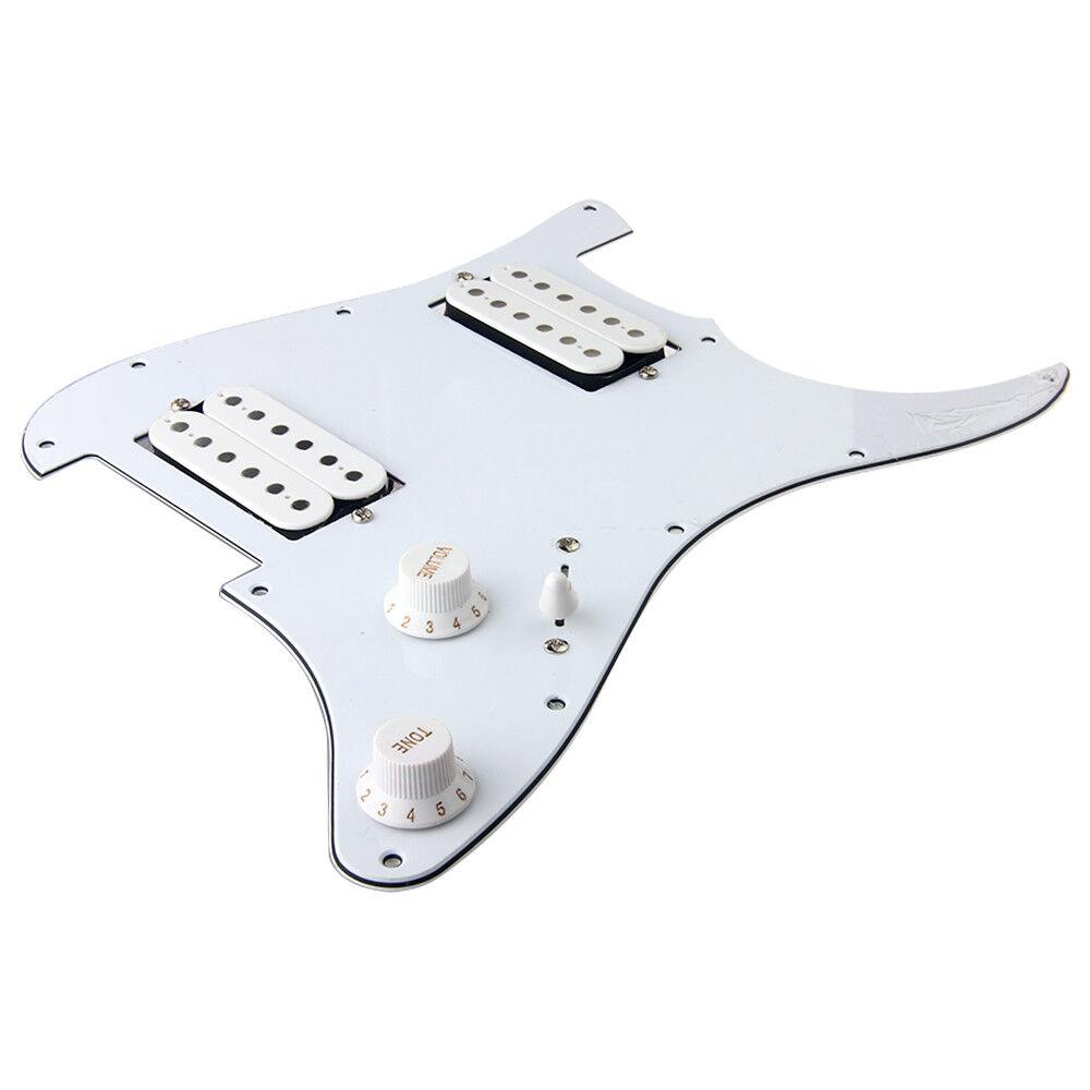 guitar loaded hh humbucker pickguard for fender stratocaster strat parts white 634458570336 ebay. Black Bedroom Furniture Sets. Home Design Ideas