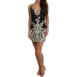 JVN by Jovani Womens Black Homecoming Embellished Semi-Formal Dress 0 BHFO 6876