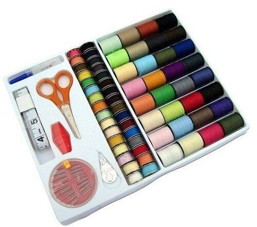 Pack de 64 bobines couleurs différents fils à coudre et aiguille Pack Bricolage Broderie