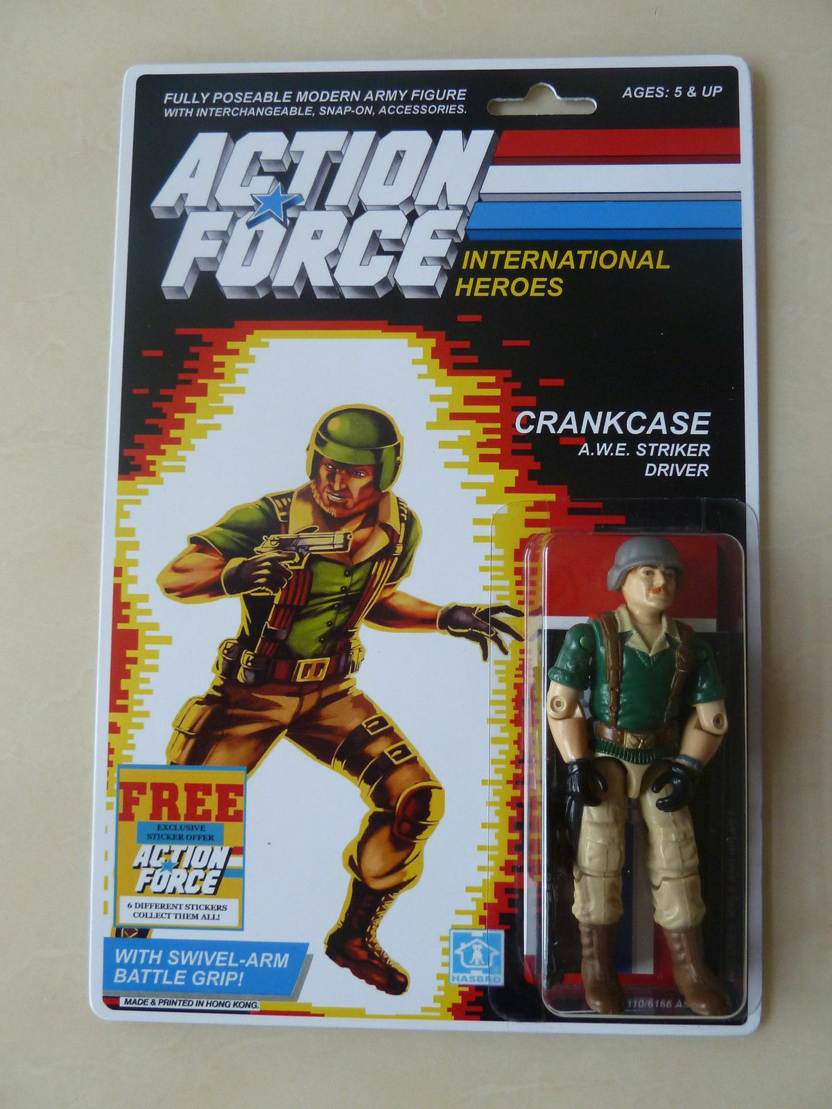 Fuerza de acción Gi Joe del cárter a.w.e controlador Moc Cochedada Personalizado Pegatina Oferta