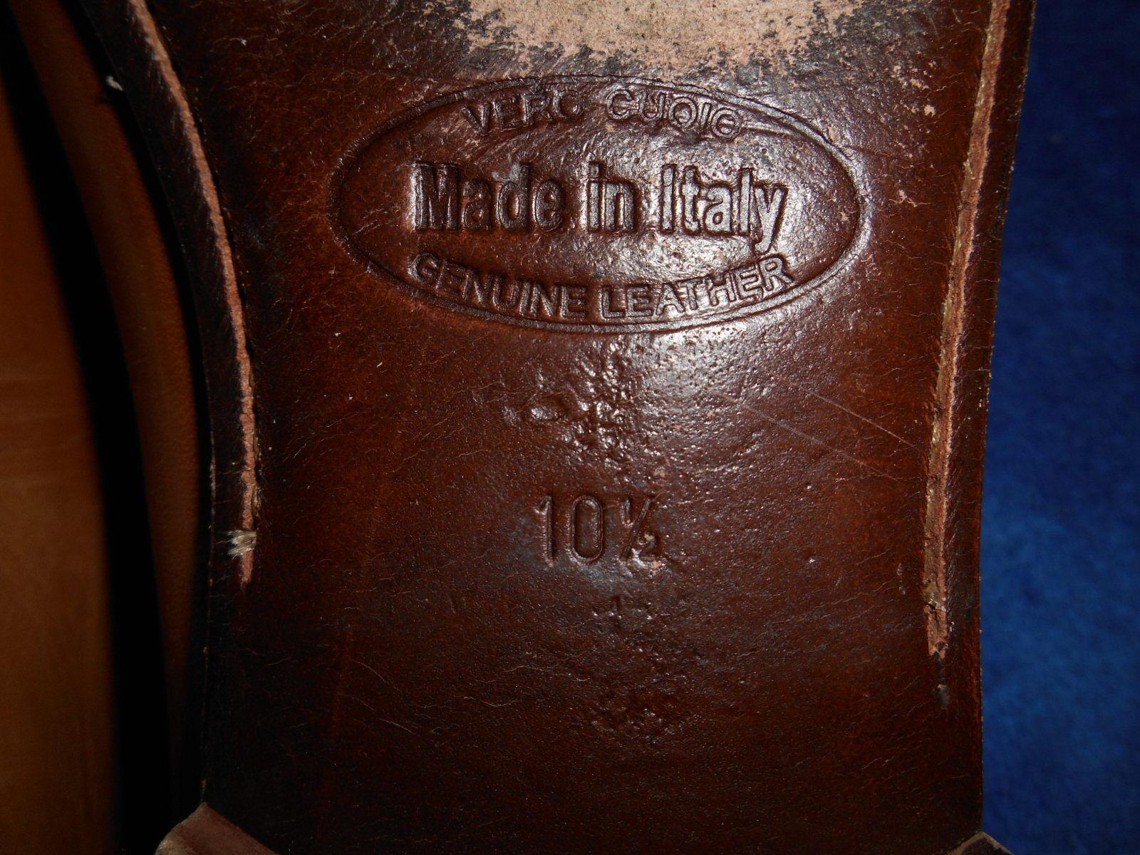 MERCANTI FIORENTINI MENS HONEY braun braun braun LOAFER BUCKLE schuhe Größe 10.5 M SUPER.. 28e221