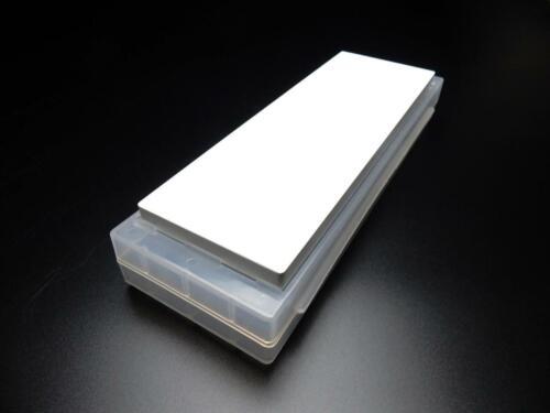 NANIWA Whetstone KAGAYAKI Finishing #12000,10mm//20mm Stone w//Plastic Clear Base