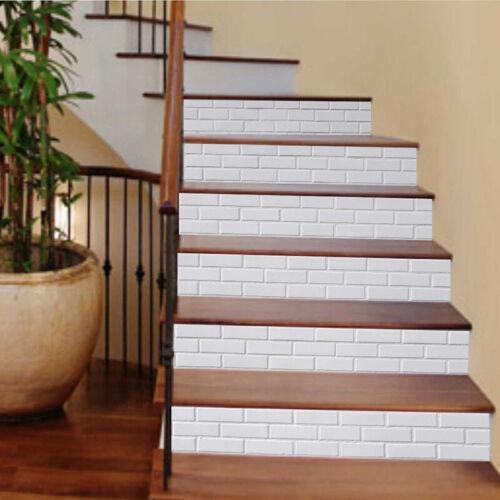 Weiß Treppenhaus Aufkleber PVC Kunst Wasserdicht Ölbeständig Rückenleim