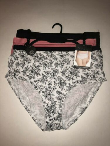Size 8//1X 3 PACK NWT 100/% COTTON BRIEFS DELTA BURKE Intimates Panties