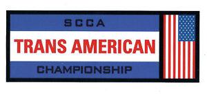 SCCA-TRANS-AMERICAN-CHAMPIONSHIP-DARK-BLUE-Racing-Decal-Sticker-die-cut