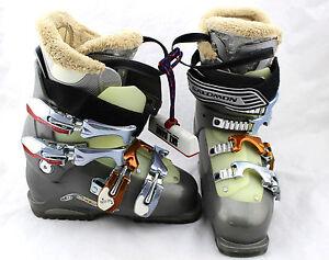 7044c55835c $400 SALOMON Performa 8 Walkadin Gray Silver Slick Ski Boots Women ...