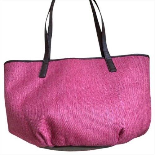 Neiman Marcus  Fuchsia Straw Tote Bag  New