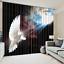 3D Curtain 2 Panels Set Home Decor Drapes-Dove Sunshine Break Darkness 067