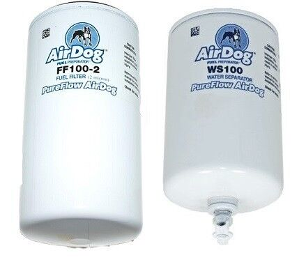 FF100-2 /& WS100 Pureflow Replacement Fuel /& Water Separator Filters AirDog