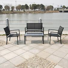 Outdoor Patio Sofa Set PE Wicker Rattan Deck W/Tea Table Sectional Furniture