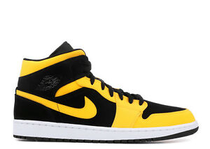 low priced 7e8fa 98eaf Nike Air Jordan Retro 1 Mid Reverse New Love Black Yellow 554724 071 ...