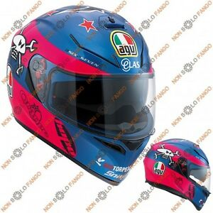 Casco-moto-Integrale-K-3-SV-E2205-Replica-Guy-Martin-Pink-Blue