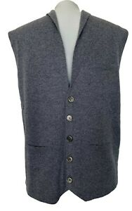 NEW-BROOKS-BROTHERS-MEN-039-S-CASHMERE-GREY-SWEATER-VEST-WAISTCOAT-M-498