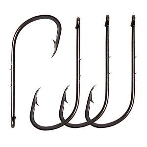 Lot 50 Baitholder Hook Jig Fishing Hooks Black HIgh Carbon Steel Fishhook Box
