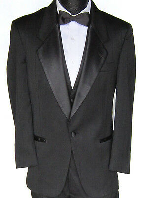 Black Striped Christian Dior Tuxedo Jacket Halloween Costume Twenties Gatsby 41R