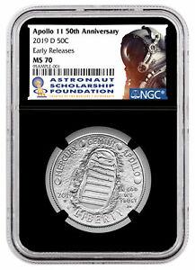 Commemorative Obliging 2019d Apollo 11 50th Astronaut Clad Half Dollar Ngc Ms70 Er Black Core Sku57190 Collectibles