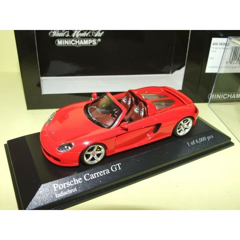 PORSCHE CARRERA GT 2003 Rouge MINICHAMPS 1 43