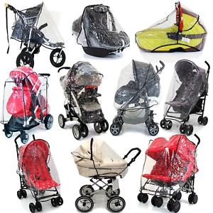 Universal Transparent Clear Pushchair Buggy Stroller Car Seat Rain Cover VARIOUS