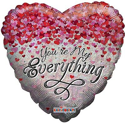 Holographic YOU'RE MY EVERYTHING Hearts Love Appreciation Valentine Balloon
