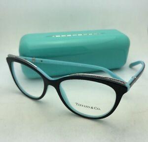 d53a4a2dd4 TIFFANY   Co. Eyeglasses TF 2147-B 8055 52-16 Black on Blue Frames ...