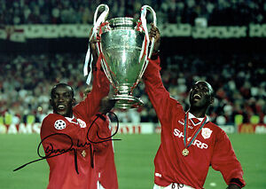 b4f9efb7c Image is loading Dwight-YORKE-SIGNED-Manchester-United -16x12-Champions-Photo-