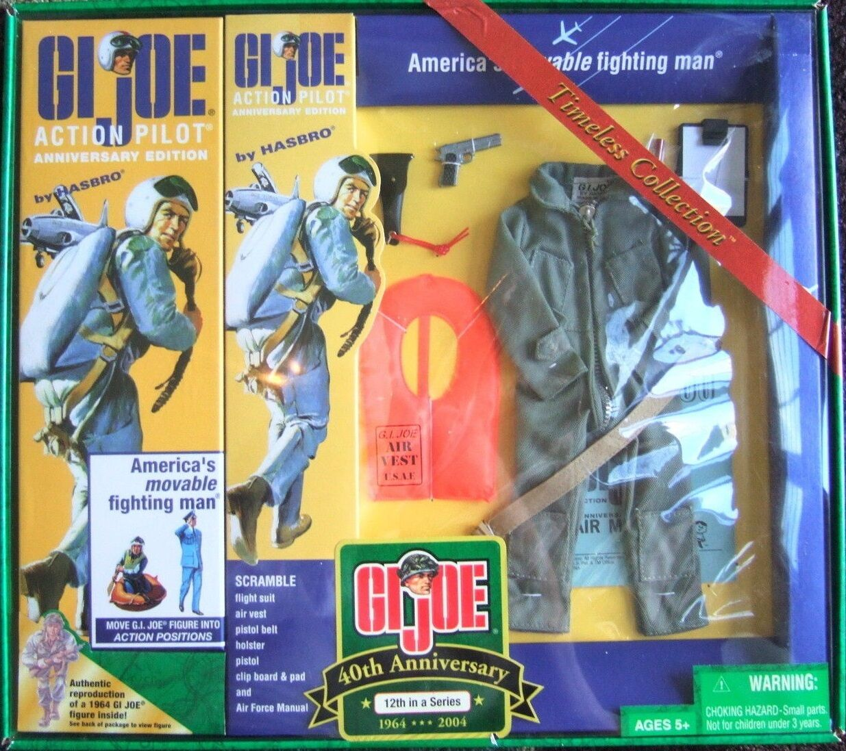 G.I. Joe 40th Anniversary Pilot Scramble Action Figure Hasbro JC