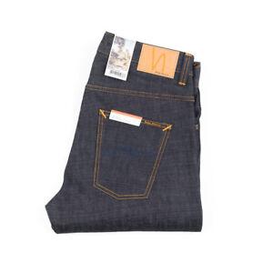 Nudie-Jeans-Sleepy-Sixten-Dry-Deep-Dunkelblau-Relaxed-Straight-112781-Neu