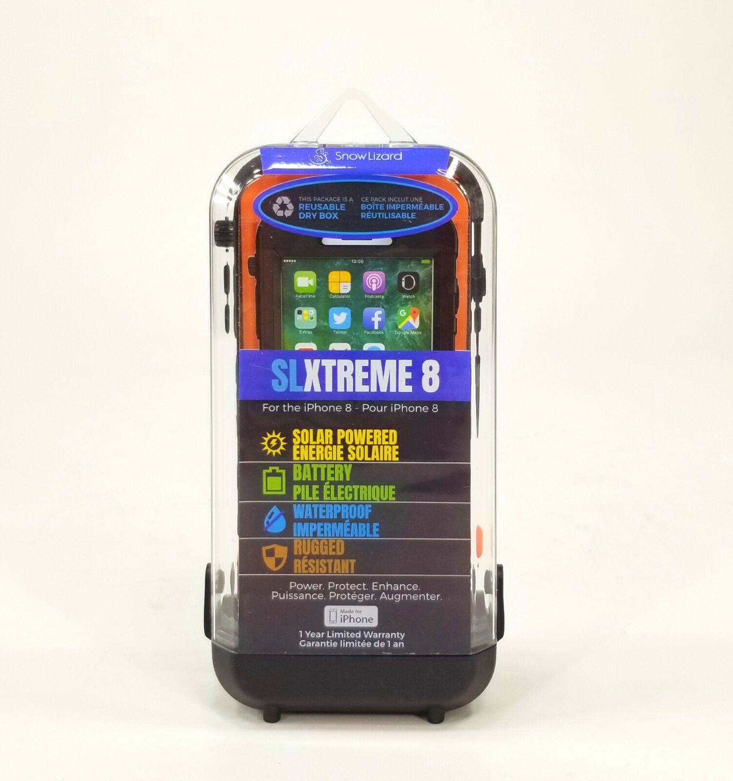 Lizard Iphone 8 7 Slxtreme,orange,SLZ-03829,Solar Charge,Waterproof,Battery