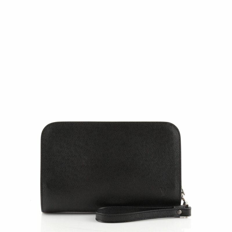 Louis Vuitton Pochette Baikal Clutch Taiga Leather Superior Materials