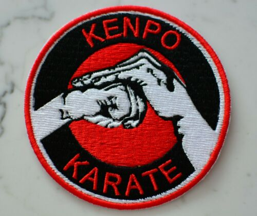 KARATE KENPO Round Iron on PATCH Aufnäher Parche brodé patche toppa kempo
