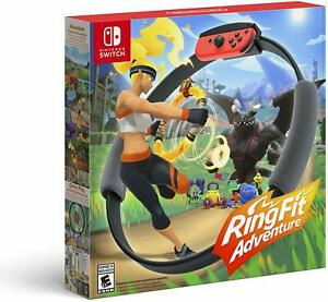 Nintendo-Switch-Ring-Fit-Adventure-Fitness-OPENED-BOX