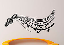 Music Wall Decal Vinyl Sticker Music Notes Treble Clef Interior Art Decor (17mu)
