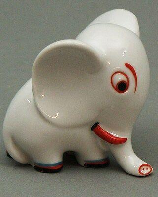 Walter Bosse Elefant Porzellan Groteske Metzler & Ortloff Ilmenau Elephant Modischer (In) Stil;