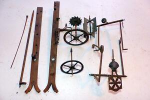 Ancien Système Pièces Mécanisme Sonnerie Pour Mouvement Horloge Comtoise Xixe Doux Et AntidéRapant