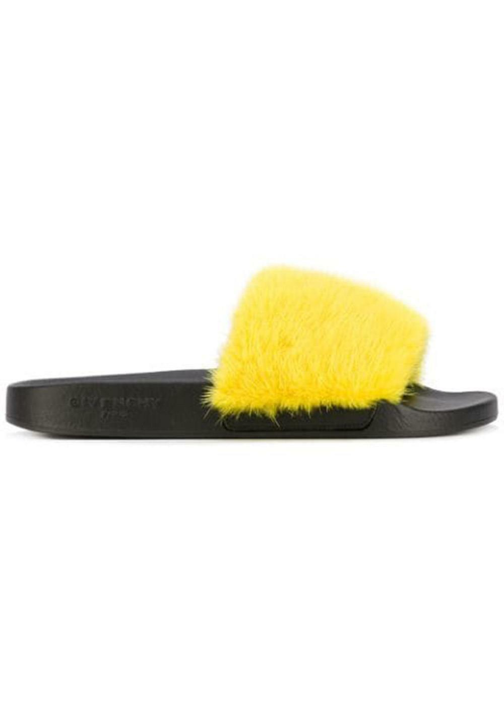 GIVENCHY MINK FUR SLIDES EU 39 UK 6 US 9
