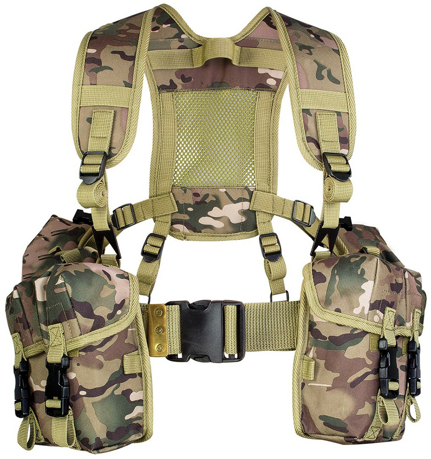 HIGHLANDER Full Set of PLCE British Military Webbing - HMTC Camo - MTP Match