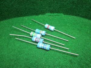 5-Pack-Corning-Flameproof-FP42-82K-OHM-2-Watt-5-Resistors-NOS