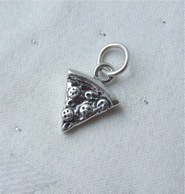 YUMMY SLICE OF PIZZA 3D CHARM 925 STERLING SILVER