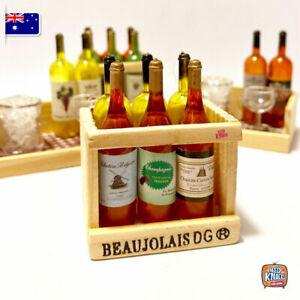 Mini Cocktail Bottles Set Miniature dollhouse 1:12 Little Shop Mini Brands